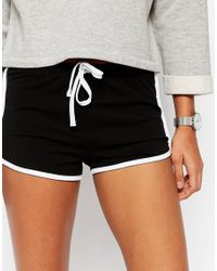 ASOS - Basic Runner Shorts With Contrast Binding - Black - Lyst