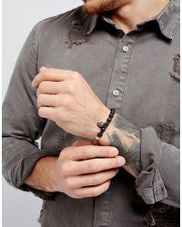 Icon Brand - Skull & Cross Bracelet In Black for Men - Lyst