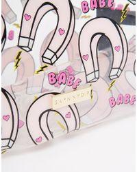 Skinnydip London - Black Asos Exclusive Babe Magnet Print Make Up Bag - Lyst