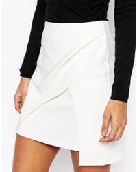 ASOS - White Premium Layered Mini Skirt - Lyst
