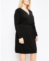 Carmakoma - Black Wrap Front Dress - Lyst