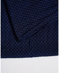 Esprit - Blue Scarf Lightweight Minimal for Men - Lyst