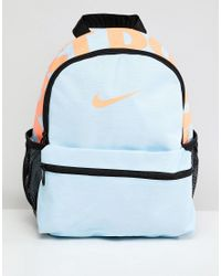 92a70f6e7e Nike Blue Just Do It Logo Mini Backpack in Blue - Lyst