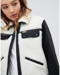 Wrangler - White X Peter Max Sherpa Jacket - Lyst