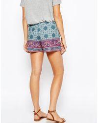 ASOS - Purple Maternity Paisley Border Pleat Shorts - Lyst