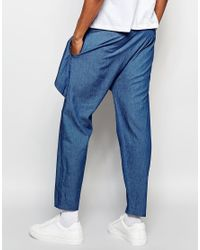 The New County - Blue Wrap Trousers for Men - Lyst