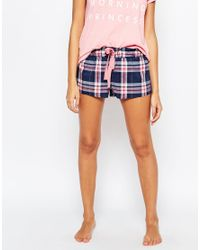 Undiz - Blue Aziz Check Short - Lyst