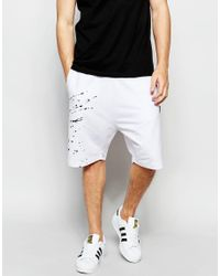 Izzue - White Shorts With Contrast Insert for Men - Lyst
