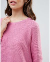 French Connection - Pink Candy Alpaca Wool Mix Knit Raglan Jumper - Lyst