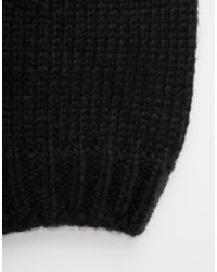 Hat Attack | Black Rib Slouchy Beret | Lyst