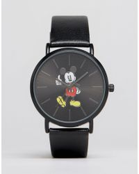 ASOS | Black Watch With Mickey Mouse for Men | Lyst
