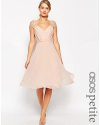 ASOS - Pink Kate Lace Midi Dress - Lyst