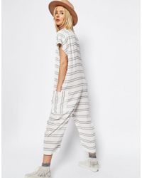 ASOS - Multicolor White Stripe Jumpsuit - Lyst