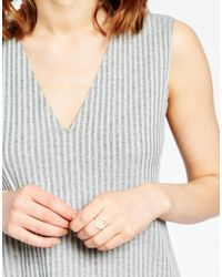 Pilgrim - Metallic Silver Plated Adjustable Ring - Lyst