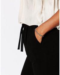 Pilgrim | Metallic Gold Plated Plaited Thread Bracelet | Lyst
