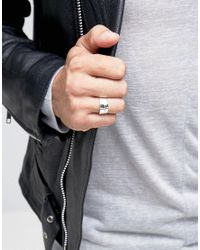ASOS - Metallic Sterling Silver Ring With Cross for Men - Lyst