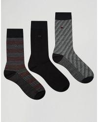 Calvin Klein | Socks 3 Pack Gift Set - Black for Men | Lyst