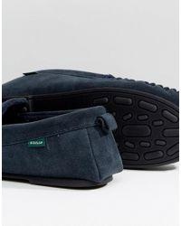 Dunlop | Blue Tassel Slippers In Navy Suede for Men | Lyst