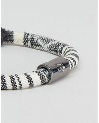 Icon Brand | Woven Bracelet In Beige/blue for Men | Lyst