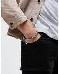 Icon Brand - Beaded Bracelet In Green - Green for Men - Lyst