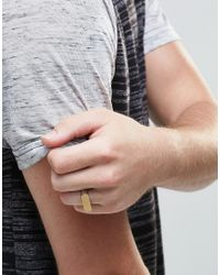 Icon Brand - Metallic Mixed Metal Ring In Silver for Men - Lyst