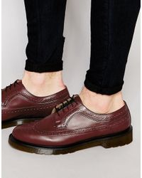 Dr. Martens | Red Brogues for Men | Lyst