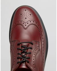 Dr. Martens - Red Brogues for Men - Lyst