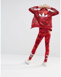 54192c8a250 adidas Originals Leggings in Red - Lyst