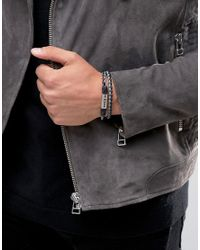 DIESEL - Multicolor Alucy Double Wrap Braided Bracelet for Men - Lyst