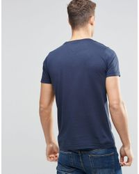 Tommy Hilfiger - Blue T-shirt With Floral Infill Logo In Navy In Regular Fit for Men - Lyst