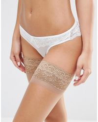 Bluebella - Natural Lace Topped Hold Ups - Lyst