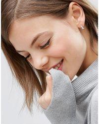 ASOS | Metallic Sterling Silver 9mm Chunky Hoop Earrings - Sterling Silver | Lyst
