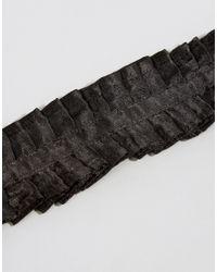 ASOS - Black Wide Ruffle Choker Necklace - Lyst