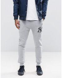 3f20805b Lyst - Majestic Filatures Yankees Skinny Joggers - Gray in Gray for Men