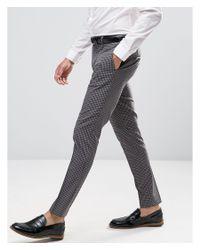 Jack & Jones - Blue Premium Skinny Smart Trouser for Men - Lyst