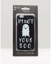 ASOS - Halloween I'm Not Your Boo Iphone 6 And 6s Case - Black - Lyst