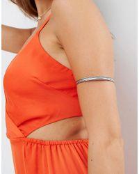 ASOS - Metallic Etched Arm Cuff - Lyst