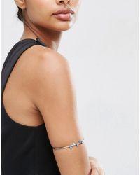 ASOS   Metallic Sleek Ball Arm Cuff   Lyst