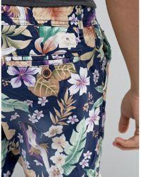 Bellfield - Blue Floral Printed Shorts for Men - Lyst