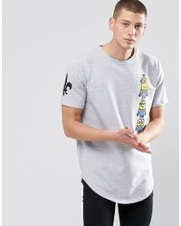 Criminal Damage | Gray Minions Long Line T-shirt - Grey for Men | Lyst