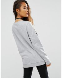 ASOS - Gray Sweatshirt With Space Cadet Sequins - Lyst