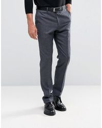 Reiss | Blue Smart Trousers In Pow Check for Men | Lyst