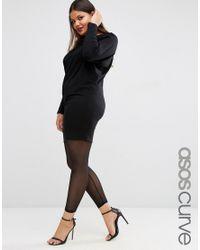 ASOS - Black Legging In All Over Mesh - Lyst