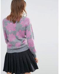 YMC - Pink Floral Jumper - Lyst