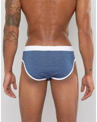 ASOS - U Bound Briefs In Blue Marl 5 Pack Save 20% for Men - Lyst