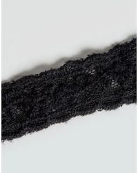 ASOS - Black Pack Of 2 Lace And Mini Pearl Choker Necklaces - Lyst