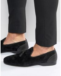 House Of Hounds - Black Wilson Suede Dress Slippers - Lyst