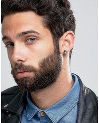 Simon Carter - Black Diamond Swarovski Crystal Stud Earrings Exclusive To Asos - Black - Lyst