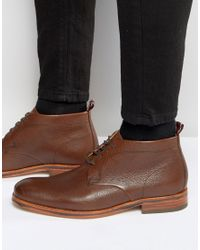 H by Hudson | Brown Men's Lenin Leather Desert Boots for Men | Lyst