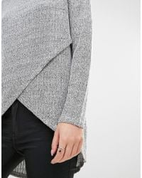 ONLY - Multicolor Nly Twist Cross Front Knit Jumper - Lyst